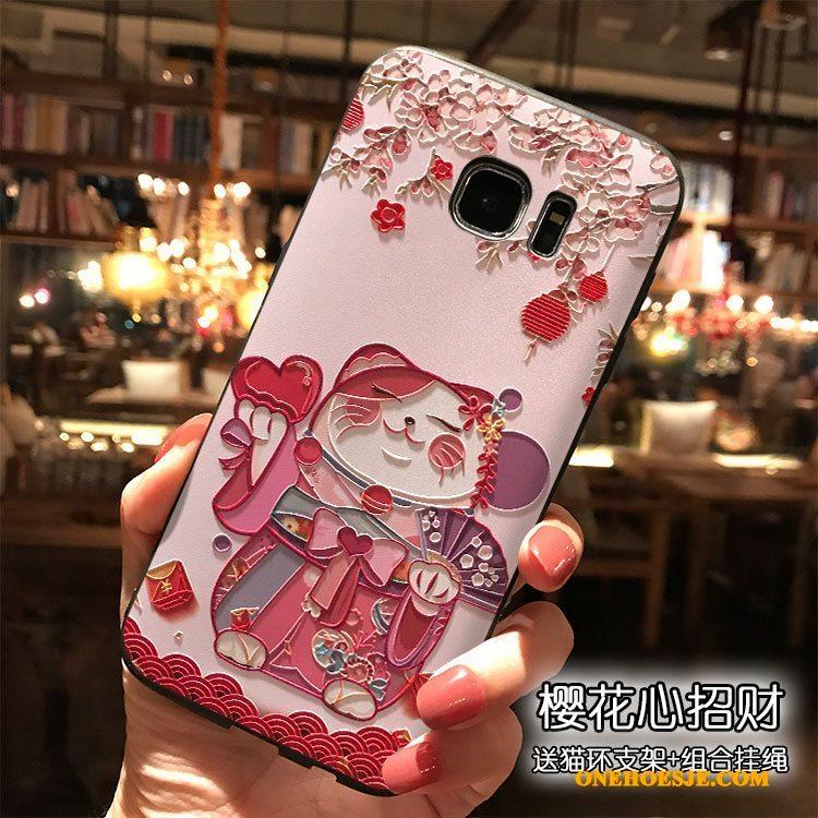 Hoesje Voor Samsung Galaxy S7 Siliconen Scheppend Spotprent All Inclusive Hoesje Telefoon
