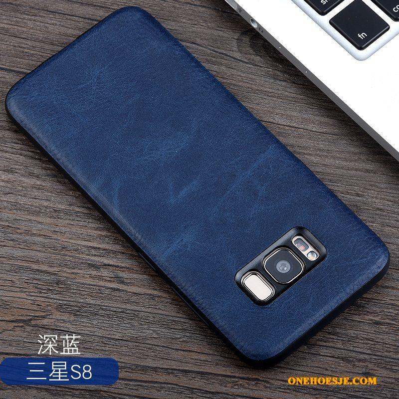 Hoesje Voor Samsung Galaxy S8 Ster Bedrijf Leer Vintage All Inclusive