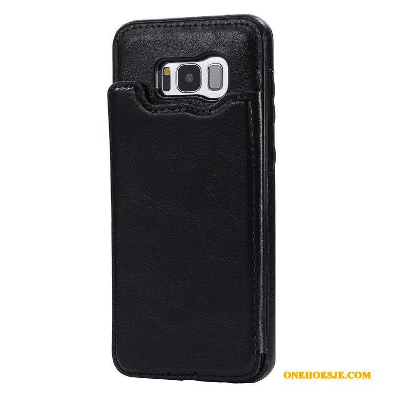 Hoesje Voor Samsung Galaxy S8 Ster Clamshell Bescherming Rood Portemonnee