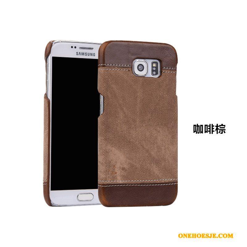 Hoesje Voor Samsung Galaxy S8+ Telefoon Bescherming Anti-fall Ster Schrobben Echt Leer