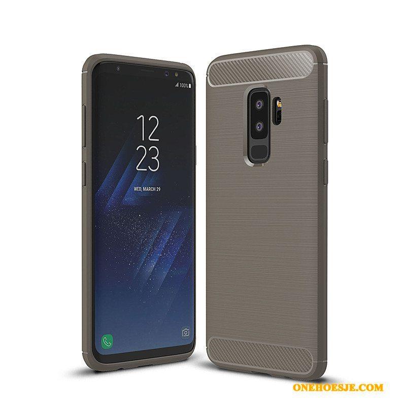 Hoesje Voor Samsung Galaxy S9+ All Inclusive Siliconen Zacht Telefoon Anti-fall Fiber
