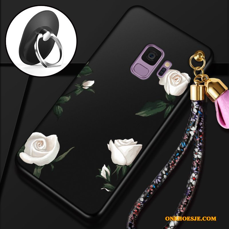 Hoesje Voor Samsung Galaxy S9 Rood Anti-fall Bescherming Dun Ster All Inclusive