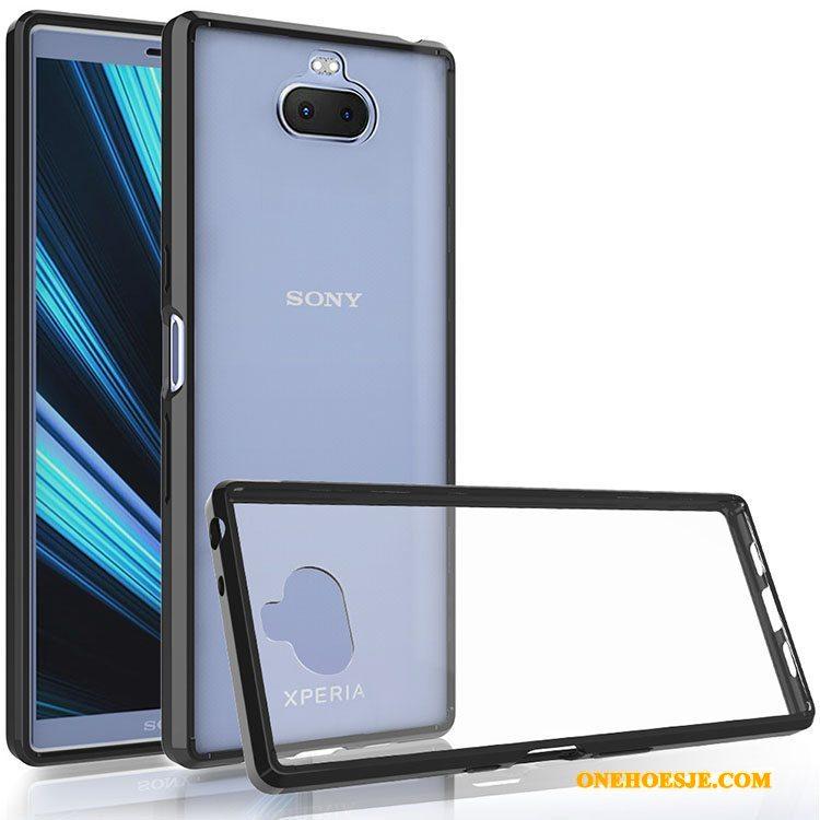 Hoesje Voor Sony Xperia 10 Plus Hard Mobiele Telefoon Zacht Doorzichtig Pantser Telefoon
