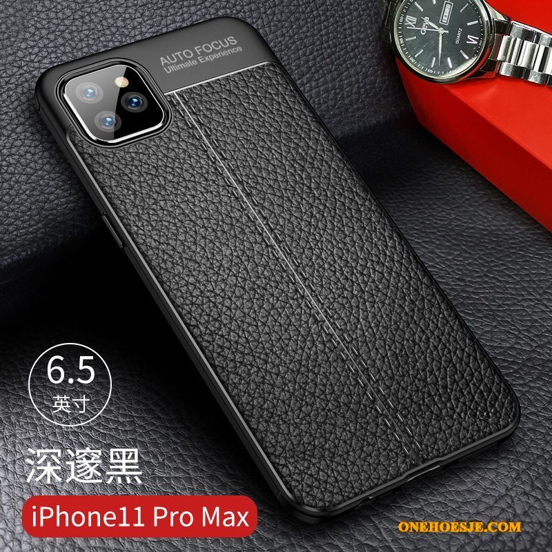 Hoesje Voor iPhone 11 Pro Max All Inclusive Net Red Zacht Nieuw Groen Telefoon