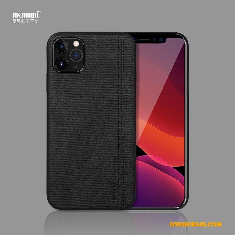 Hoesje Voor iPhone 11 Pro Max Canvas Mobiele Telefoon Bescherming Eenvoudige Hoes Telefoon