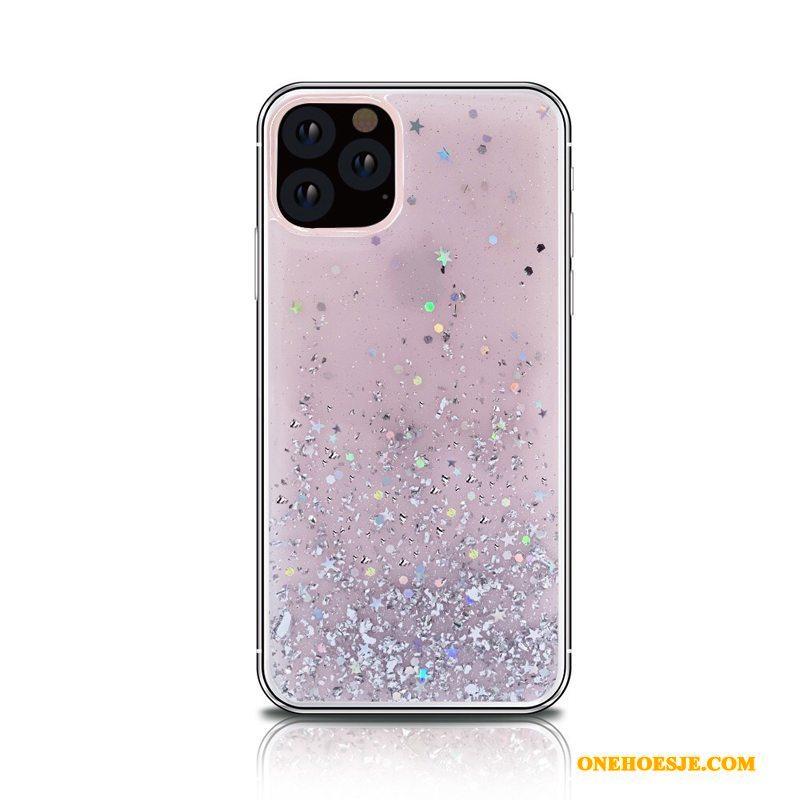 Hoesje Voor iPhone 11 Pro Max Drijfzand All Inclusive Roze Telefoon Nieuw Doorzichtig