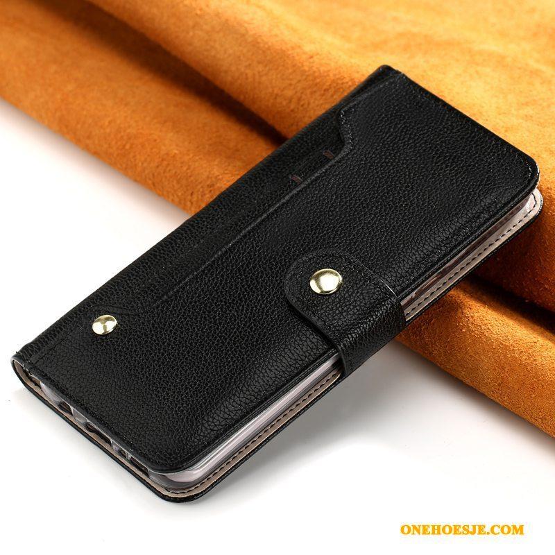 Hoesje Voor iPhone 11 Pro Max Echt Leer Bruin Hoes Clamshell Bescherming Telefoon