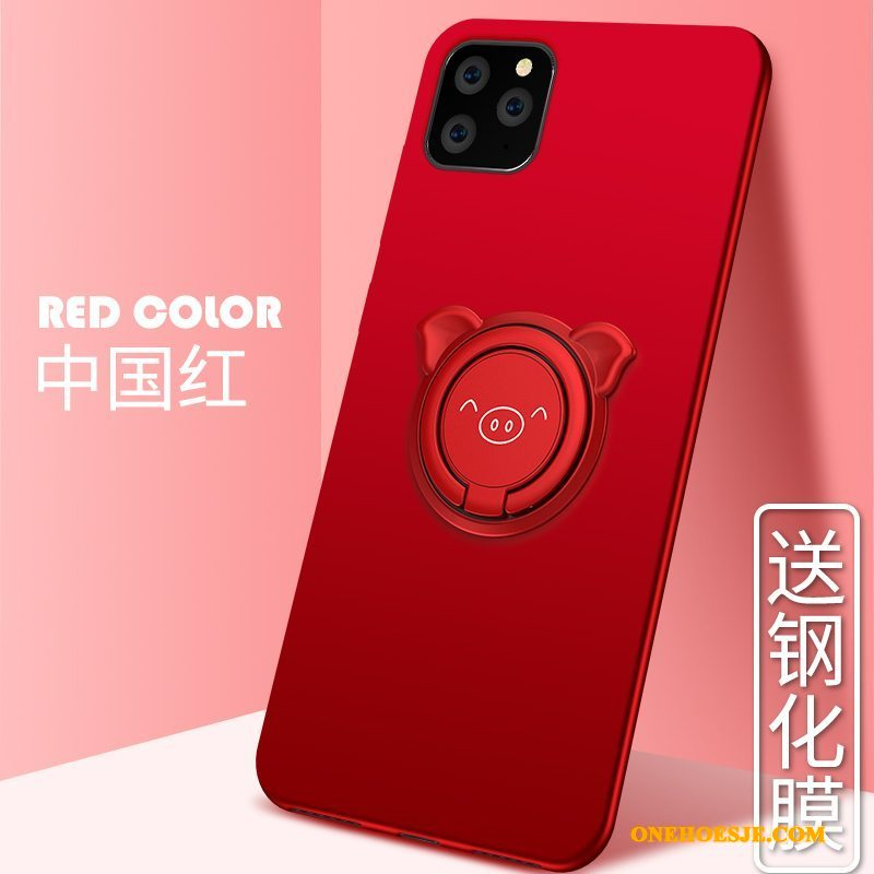 Hoesje Voor iPhone 11 Pro Max Lovers Anti-fall Rood Telefoon Dun All Inclusive