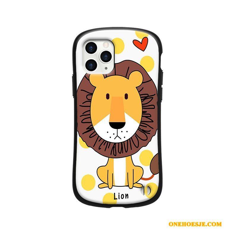 Hoesje Voor iPhone 11 Pro Max Scheppend Dierlijk Persoonlijk Bescherming Geel