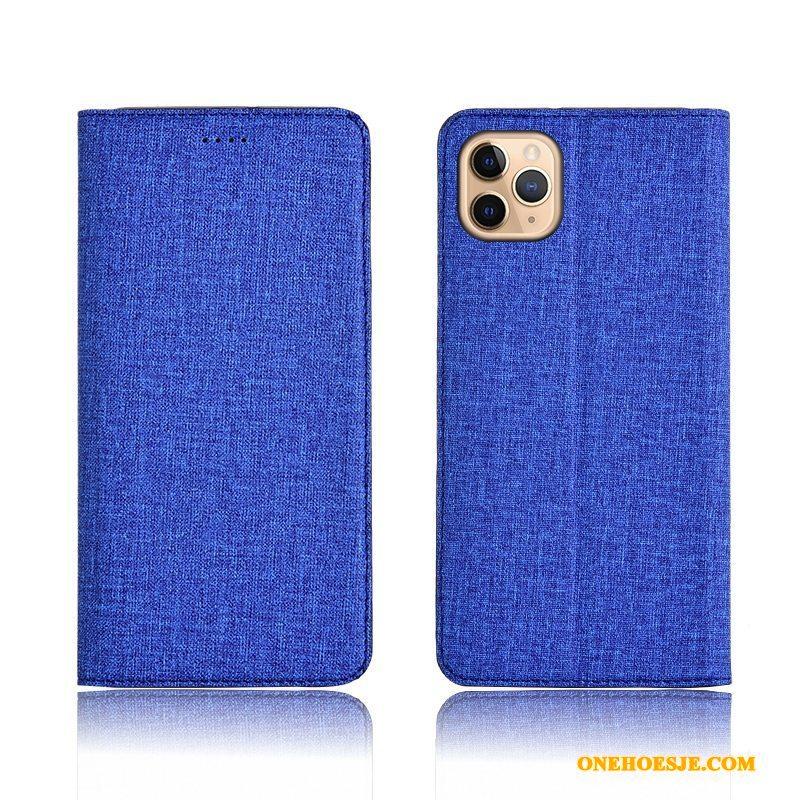 Hoesje Voor iPhone 11 Pro Max Siliconen Leren Etui Anti-fall Hoes Scheppend Telefoon
