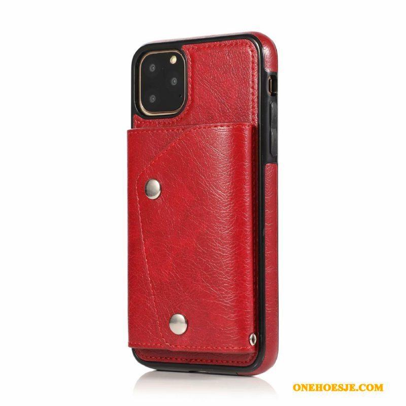 Hoesje Voor iPhone 11 Pro Max Telefoon All Inclusive Anti-fall Persoonlijk Portemonnee Hanger