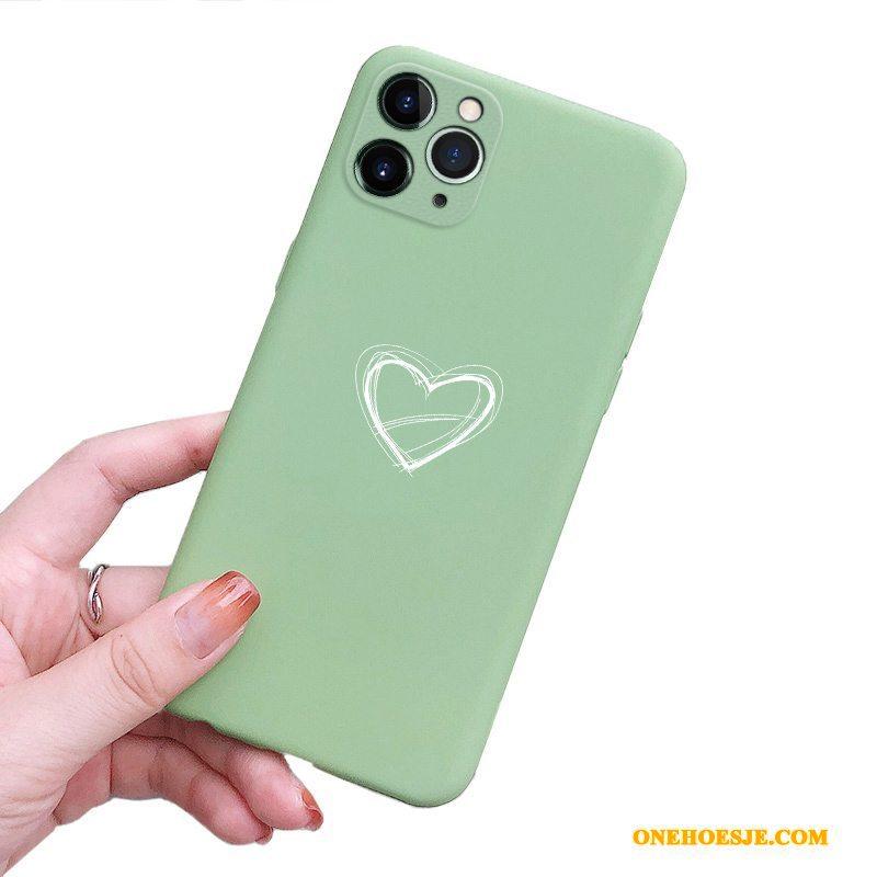 Hoesje Voor iPhone 11 Pro Max Telefoon Siliconen Bescherming Anti-fall Nieuw Groen