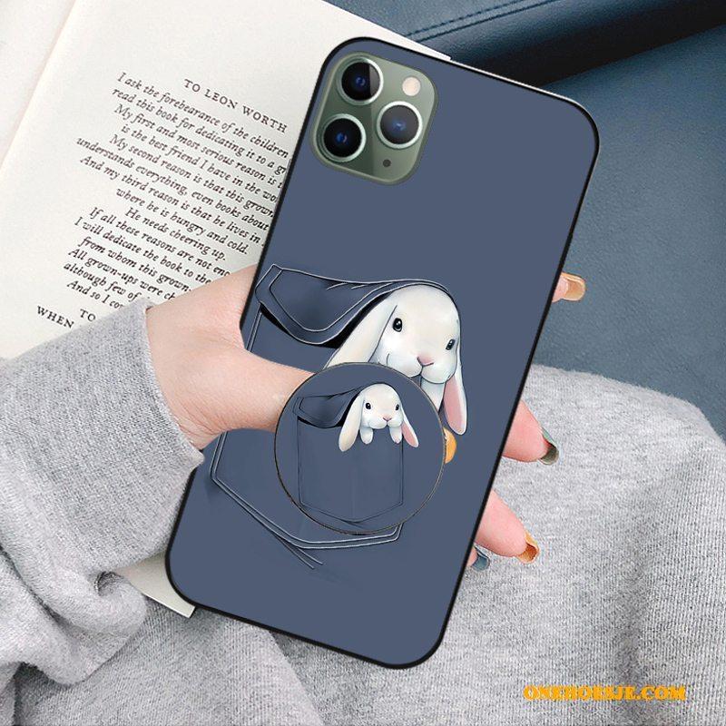 Hoesje Voor iPhone 11 Pro Max Telefoon Trendy Merk Siliconen Ondersteuning Zacht Anti-fall