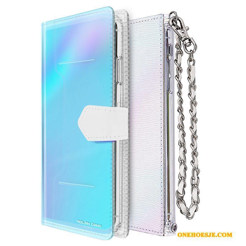 Hoesje Voor iPhone 11 Pro Max Trendy Merk Siliconen All Inclusive Leren Etui Luxe
