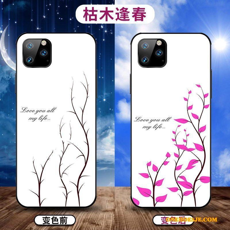 Hoesje Voor iPhone 11 Pro Max Wit Eenvoudige Zacht Trendy Merk Nieuw Dun
