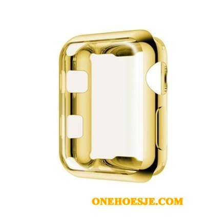 Hoesje Voor Apple Watch Series 2 Plating All Inclusive Accessoires Siliconen Goud Hoes
