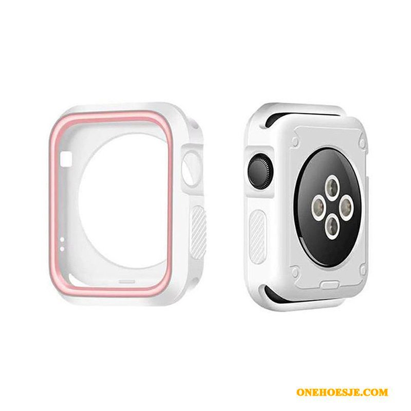 Hoesje Voor Apple Watch Series 5 Accessoires Siliconen Hoes Bescherming Anti-fall