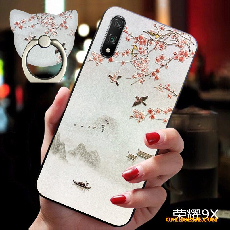 Hoesje Voor Honor 9x Anti-fall Chinese Stijl Lovers All Inclusive Telefoon