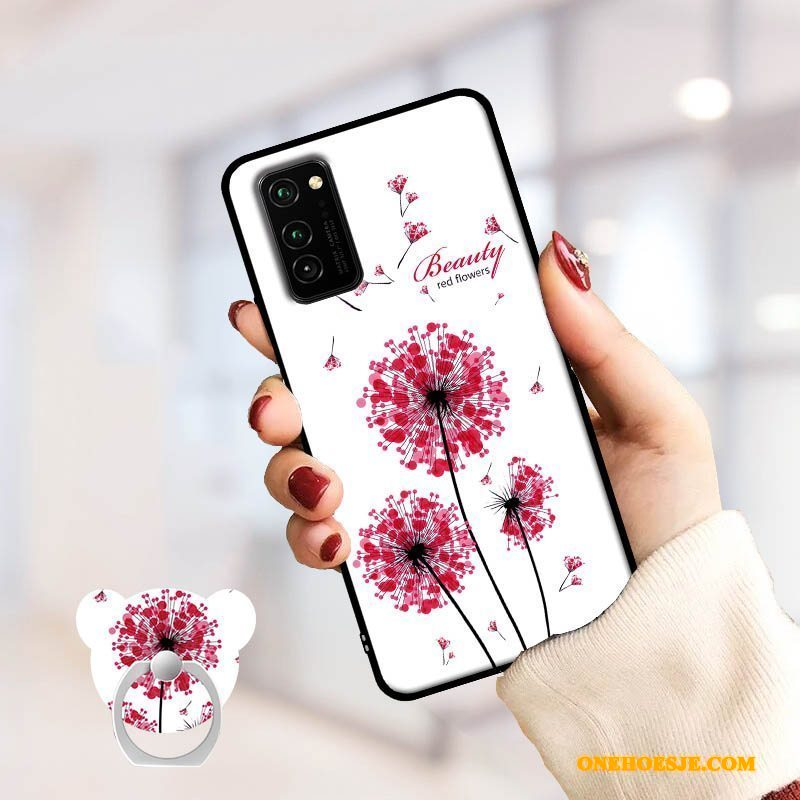 Hoesje Voor Honor View30 All Inclusive Roze Spotprent Tempereren Telefoon Skärmskydd