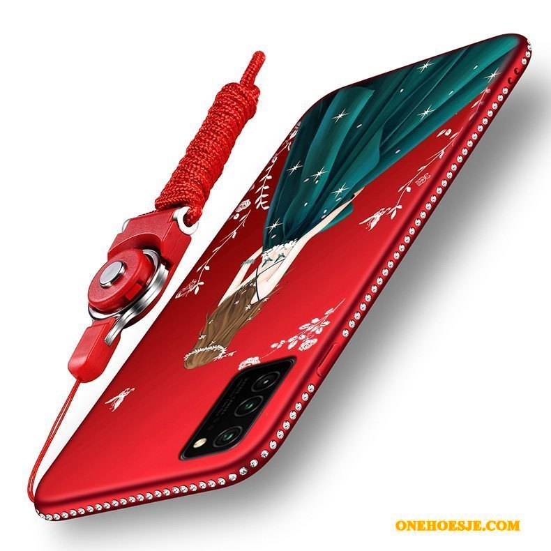 Hoesje Voor Honor View30 Net Red Schrobben Trendy Merk Siliconen Anti-fall All Inclusive