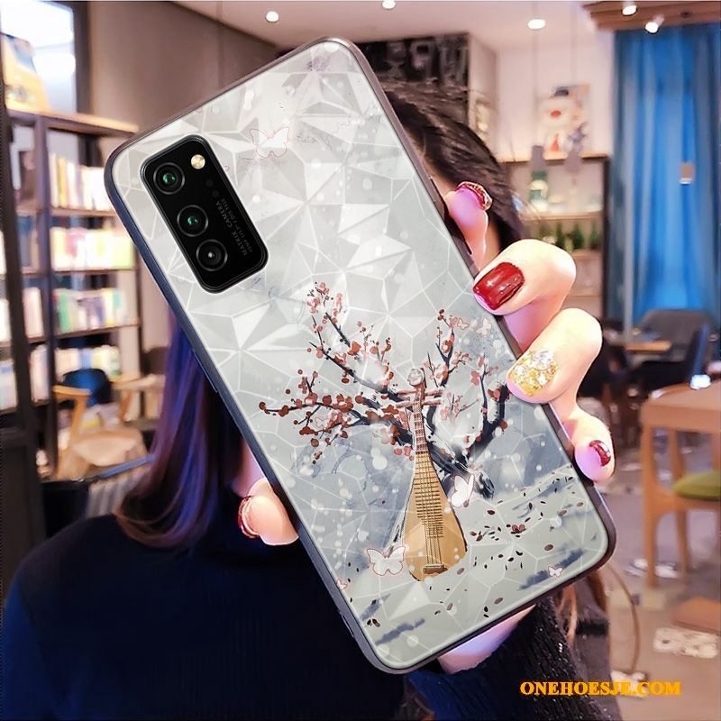 Hoesje Voor Honor View30 Pro Patroon Chinese Stijl Anti-fall Telefoon Ruit