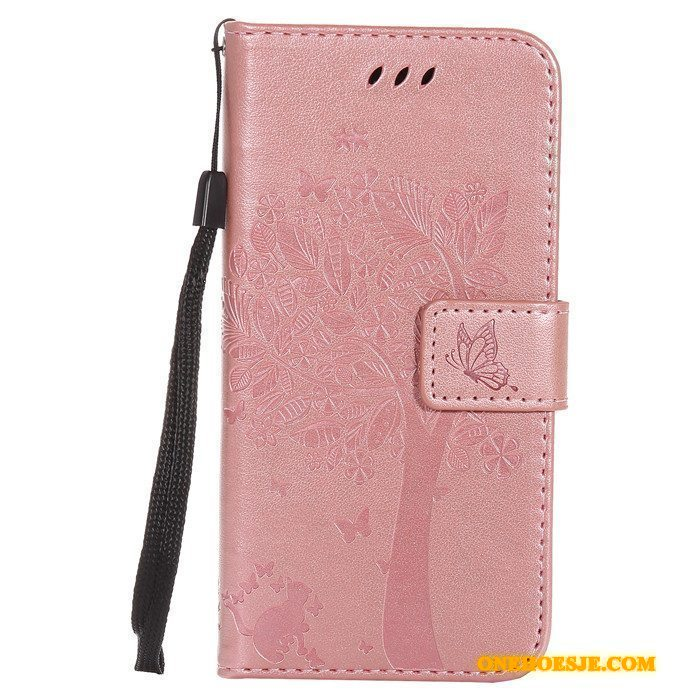 Hoesje Voor Htc One M9 Leren Etui Rose Goud Folio Hoes Anti-fall All Inclusive