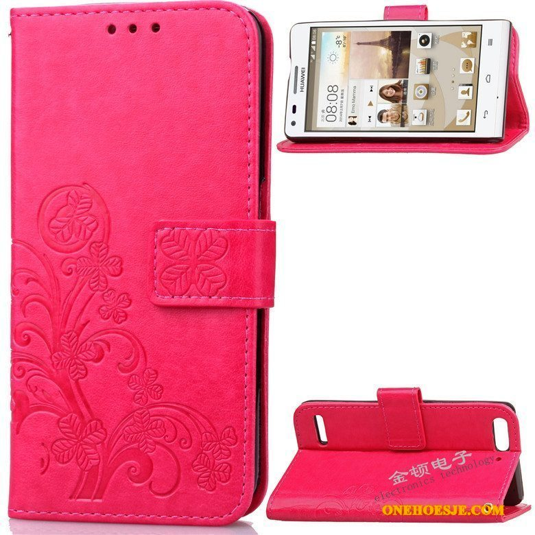 Hoesje Voor Huawei Ascend G6 Siliconen Hoes Rood Anti-fall Telefoon