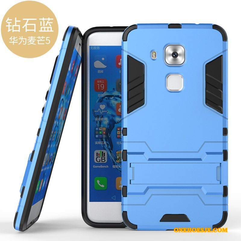Hoesje Voor Huawei G9 Plus All Inclusive Hoes Siliconen Anti-fall Telefoon Blauw