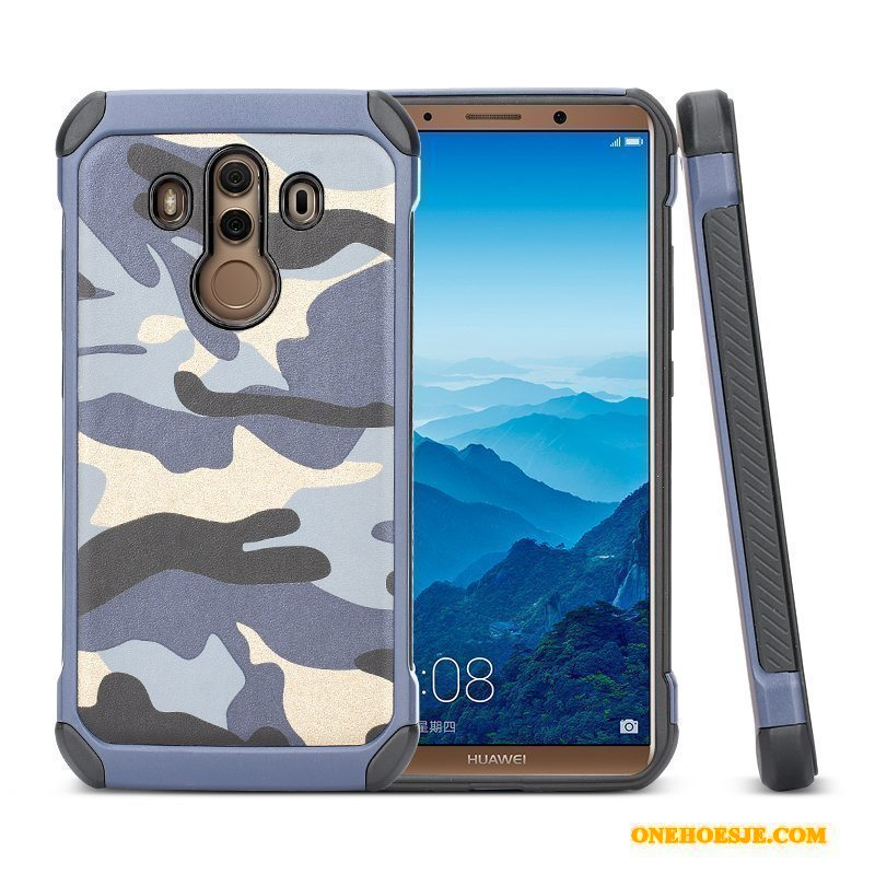 Hoesje Voor Huawei Mate 10 Pro Hoes Blauw Anti-fall Bescherming All Inclusive