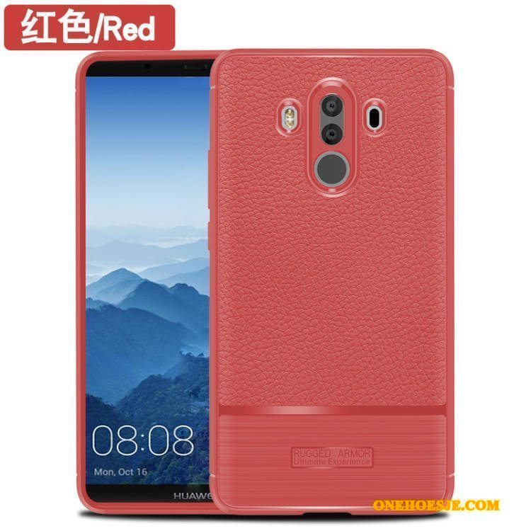 Hoesje Voor Huawei Mate 10 Pro Rood Telefoon Bescherming Siliconen Anti-fall All Inclusive
