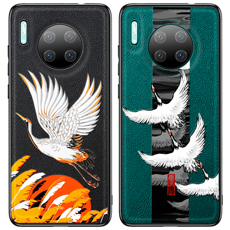 Hoesje Voor Huawei Mate 30 Anti-fall Kraan Accessoires Chinese Stijl Achterklep