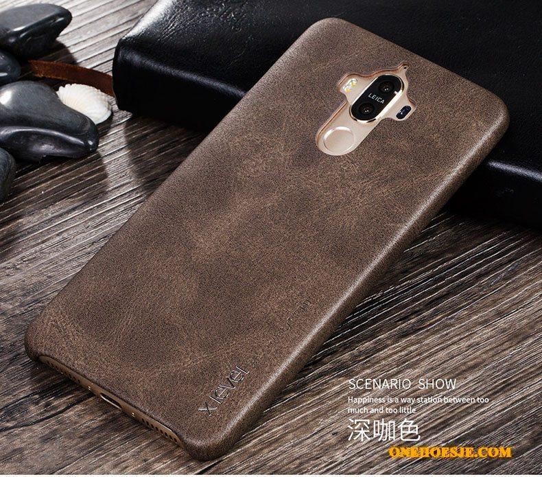 Hoesje Voor Huawei Mate 9 Telefoon Vintage Trend Bescherming Leer Leren Etui