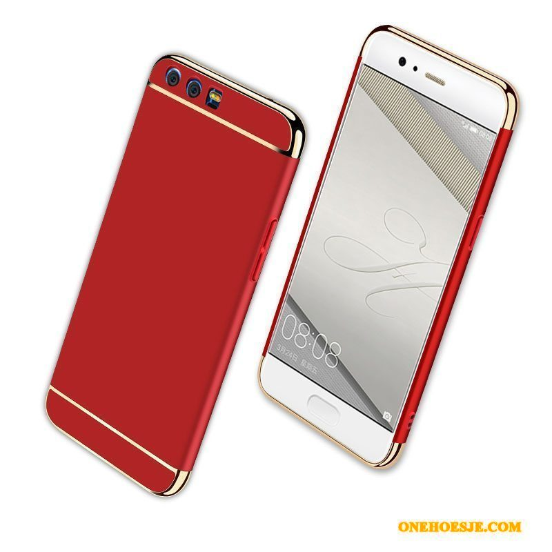 Hoesje Voor Huawei P10 Plus Hoes Rood All Inclusive Schrobben Anti-fall