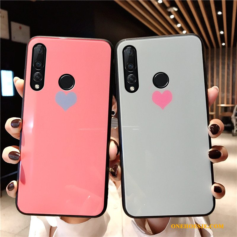 Hoesje Voor Huawei P30 Lite Net Red Trend High End Groen Glas Mode