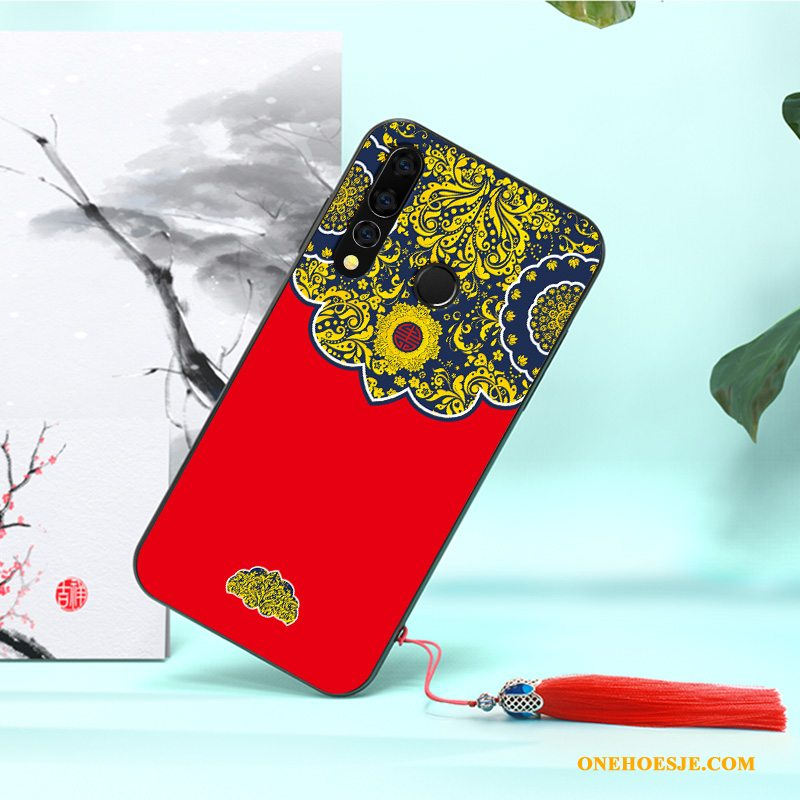 Hoesje Voor Huawei P30 Lite Rood Hoes All Inclusive Anti-fall Siliconen Persoonlijk