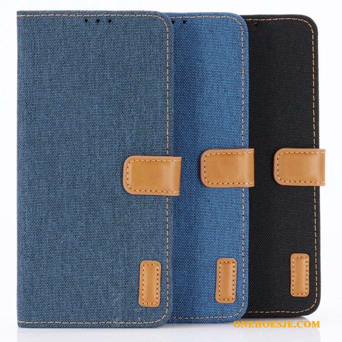 852de9642b1 Hoesje Voor Huawei P30 Pro Blauw Bescherming Portemonnee Leren Etui  Klittenband Diepe Kleur