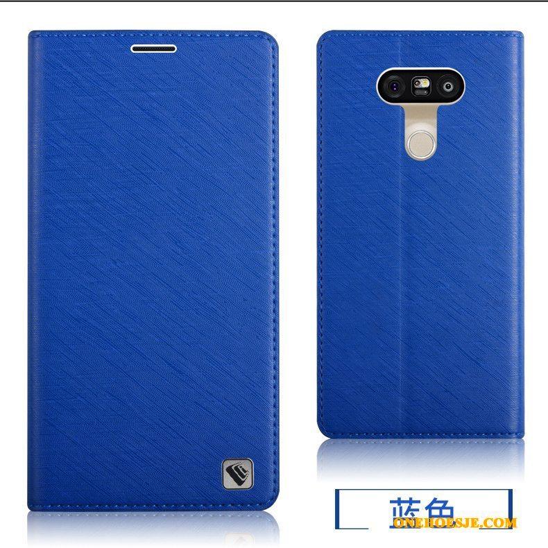 Hoesje Voor Lg G5 Blauw Bescherming Achterklep Siliconen Telefoon All Inclusive