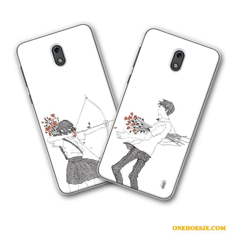 Hoesje Voor Nokia 2 Zacht Vers Siliconen Wit Mini