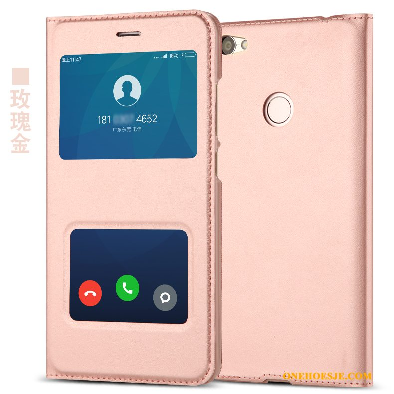 Hoesje Voor Redmi Note 5a Hoes Clamshell Rood Telefoon Bescherming Rose Goud