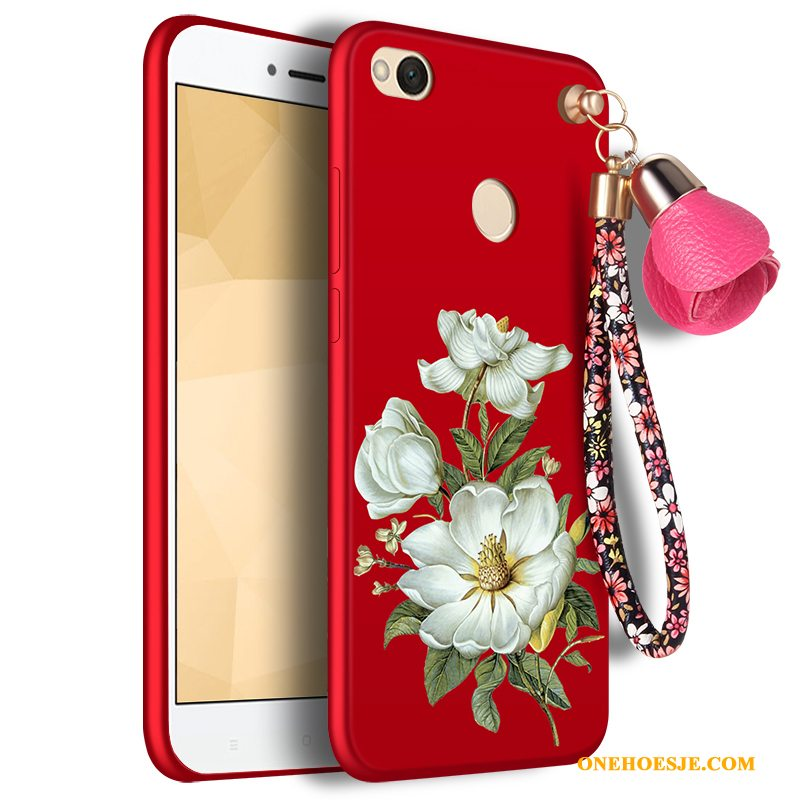 Hoesje Voor Redmi Note 5a Rood Trend All Inclusive Anti-fall Bescherming Hoes