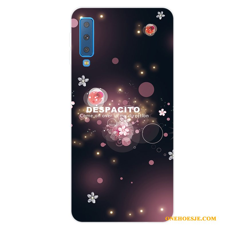 Hoesje Voor Samsung Galaxy A7 2018 Bescherming Vers Siliconen All Inclusive Roze Ster
