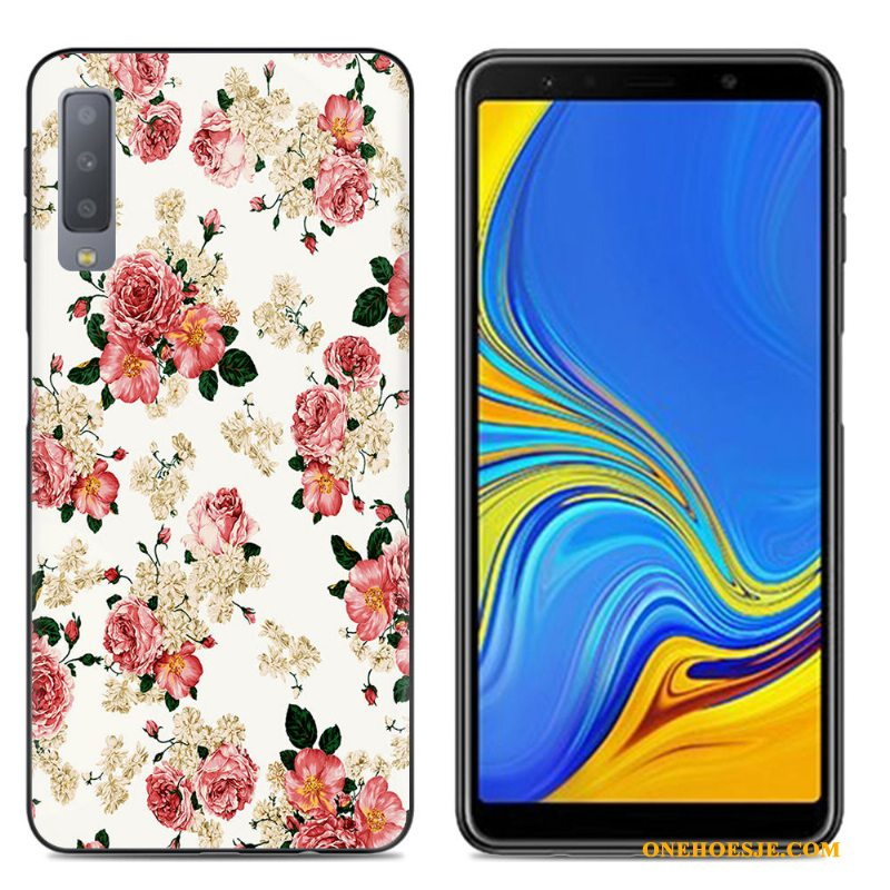 Hoesje Voor Samsung Galaxy A7 2018 Zacht Scheppend Mobiele Telefoon Ster Hoes Siliconen