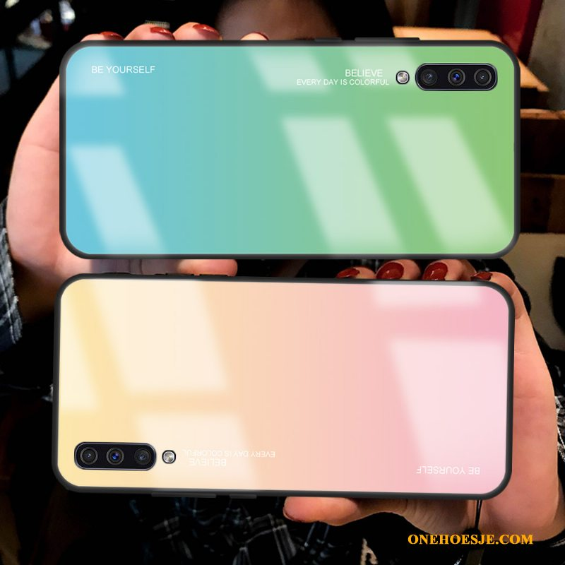 Hoesje Voor Samsung Galaxy A70 Anti-fall Glas All Inclusive Bescherming Ster