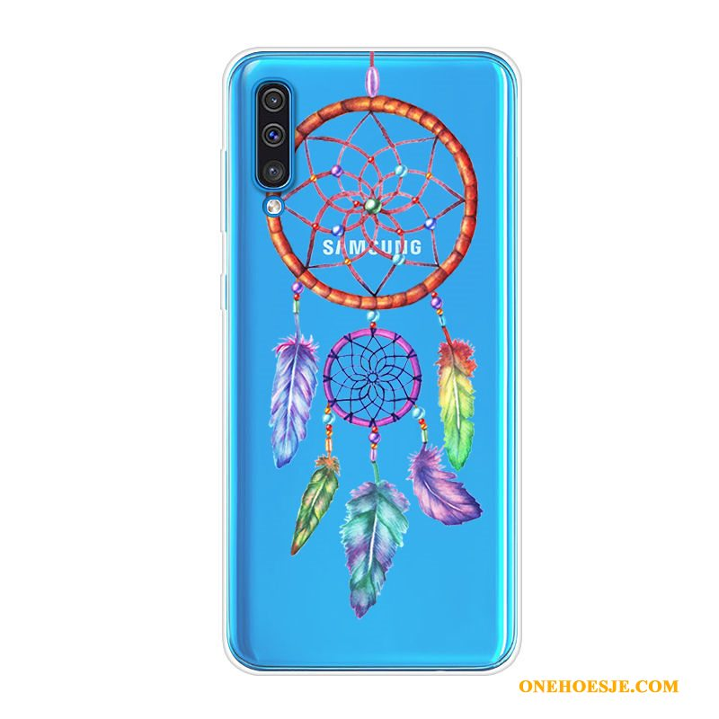 Hoesje Voor Samsung Galaxy A70 Hoes Trend Anti-fall Blauw Ster