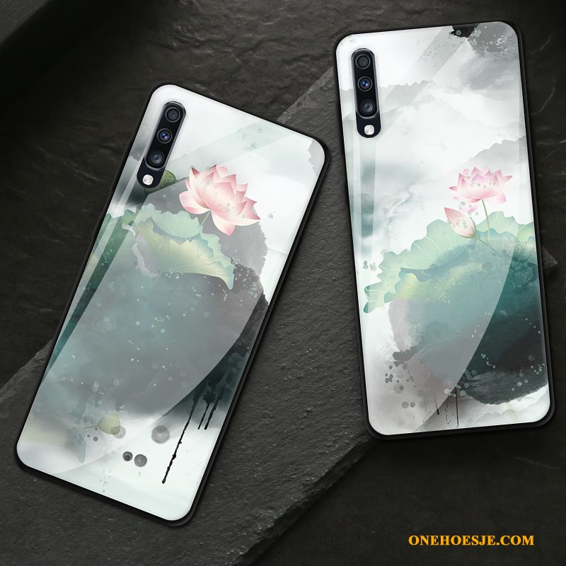 Hoesje Voor Samsung Galaxy A70 Vintage Inkt All Inclusive Hoes Glas Ster