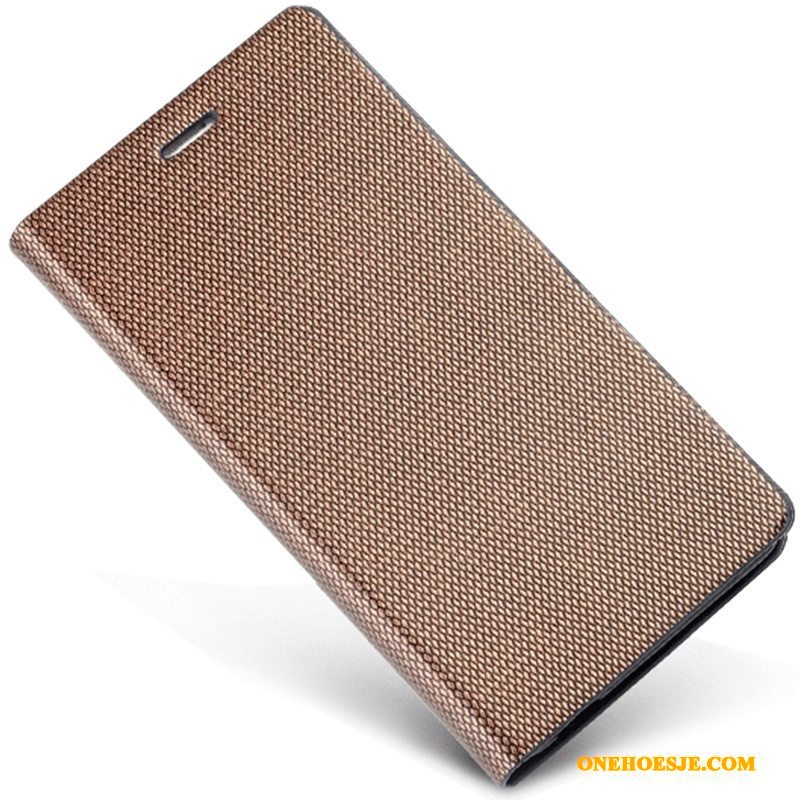 Hoesje Voor Samsung Galaxy A8 Leren Etui Bescherming Bedrijf Mobiele Telefoon Telefoon Ster