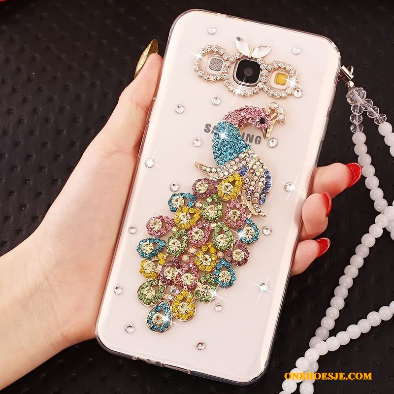 Hoesje Voor Samsung Galaxy A8 Telefoon Trend Kleur Ster Hanger Bescherming