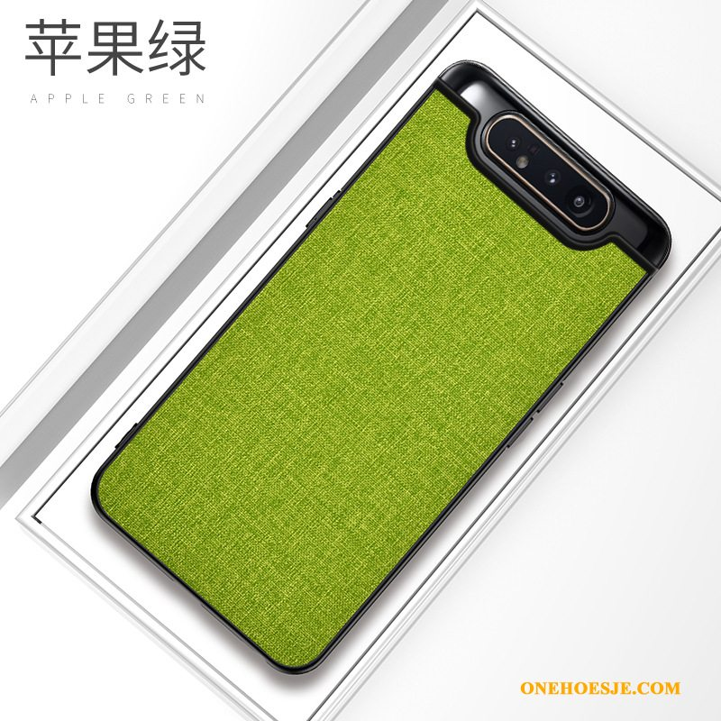 Hoesje Voor Samsung Galaxy A80 All Inclusive Pu Hoes Groen Zacht