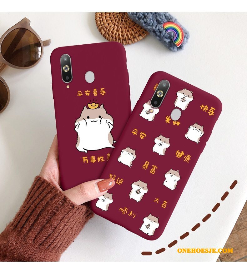 Hoesje Voor Samsung Galaxy A8s Rat Trend Chinese Stijl Dun Ster Hoes