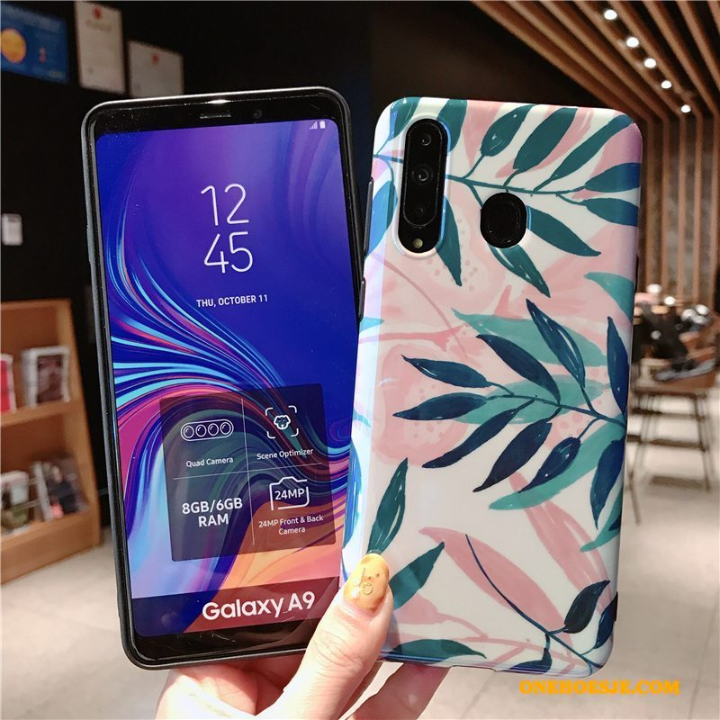 Hoesje Voor Samsung Galaxy A8s Siliconen Blauw Bescherming All Inclusive Anti-fall